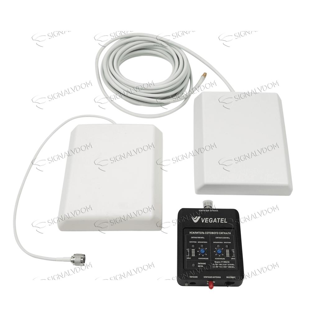 Усилитель сигнала VEGATEL VT-900E/3G (LED) комплект - 3
