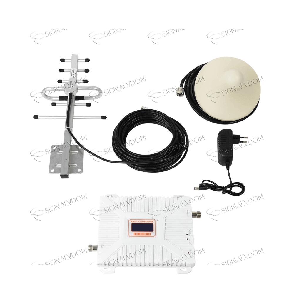 Усилитель сигнала Wingstel 1800 mHz (для 2G/4G) 65dBi, кабель 15 м., комплект