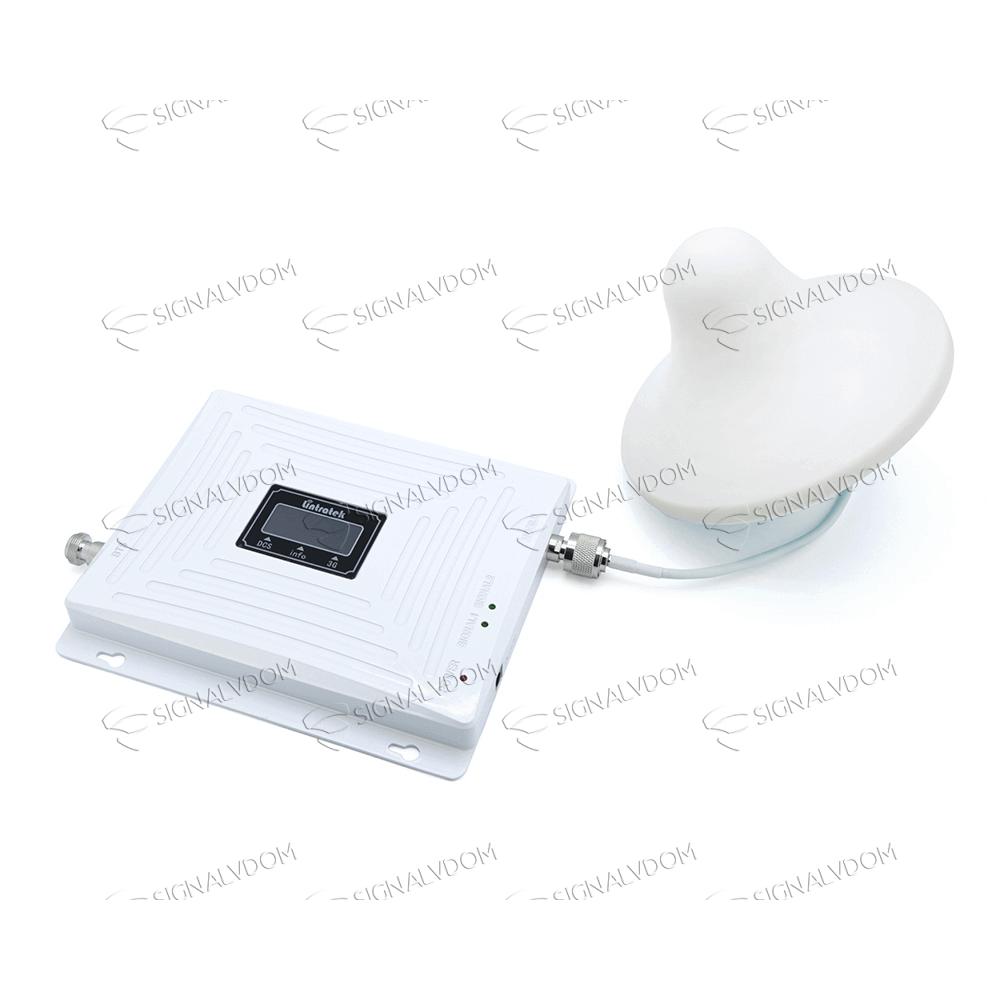 Усилитель сигнала Lintratek 900/1800/2100 mHz (для 2G/3G/4G) 65 dBi, кабель 10 м., комплект - 2