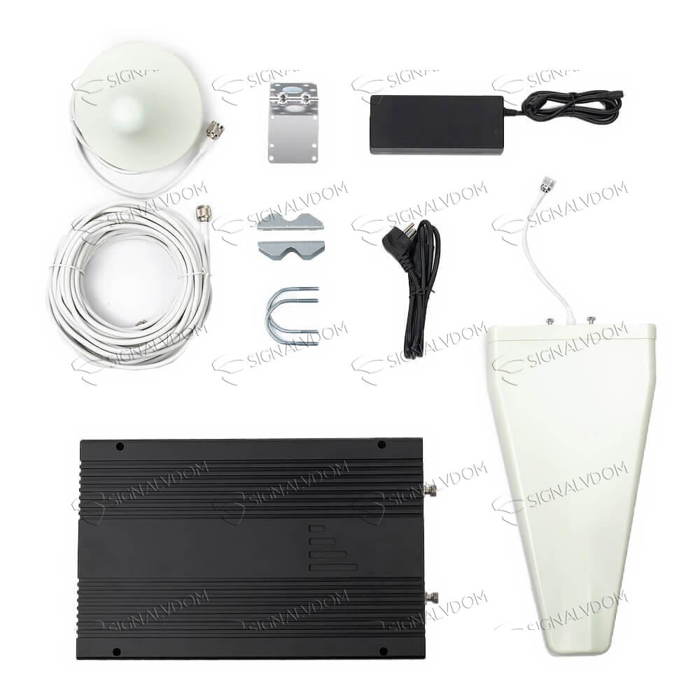 Усилитель сигнала PROM GDWL75 900/1800/2100/2600 MHz (для 2G, 3G, 4G) 75 dBi , комплект