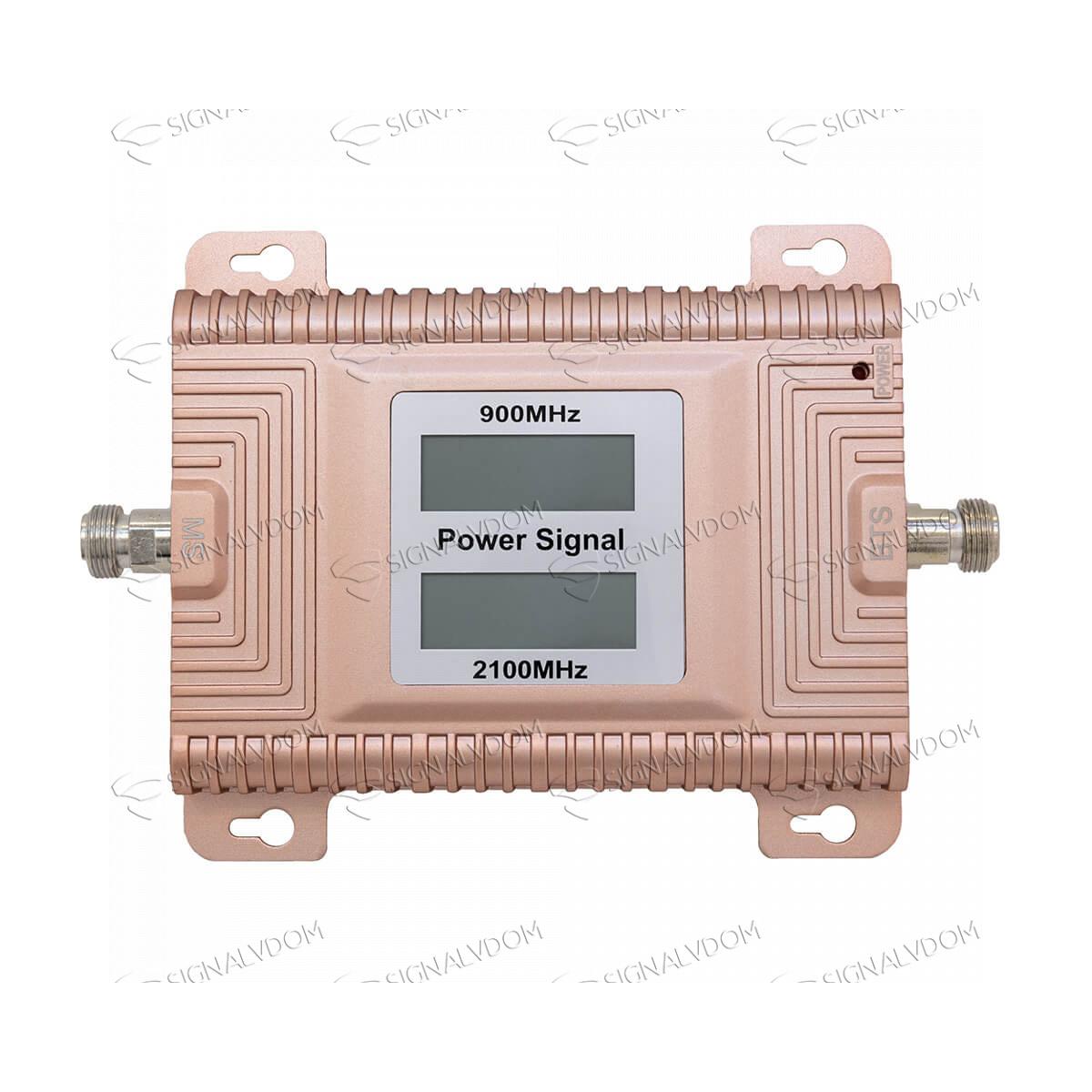 Усилитель сигнала Power Signal Standard 900/2100 MHz (для 2G, 3G) 70 dBi, кабель 15 м., комплект - 4
